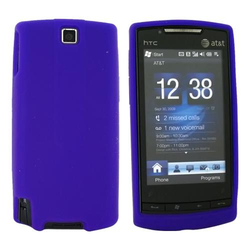 AT&T HTC Pure Silicone Case, Rubber Skin - Purple