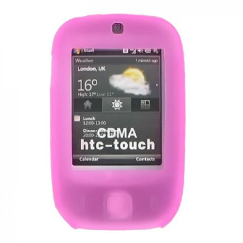 HTC Touch (CDMA) Silicone Case, Rubber Skin - Hot Pink