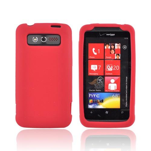 HTC Trophy Silicone Case - Red