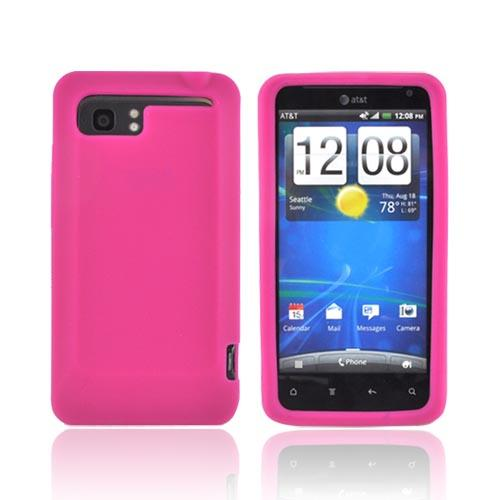 HTC Vivid Silicone Case - Hot Pink