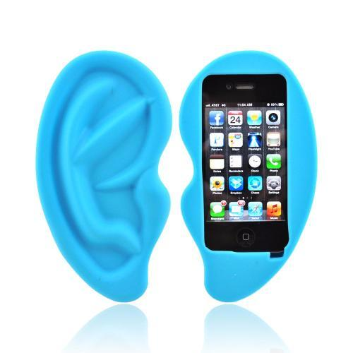 Apple iPhone 4/4S Silicone Case - Blue Ear