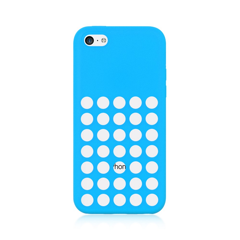 Sky Blue Silicone Skin Case w/ Holes for Apple iPhone 5C