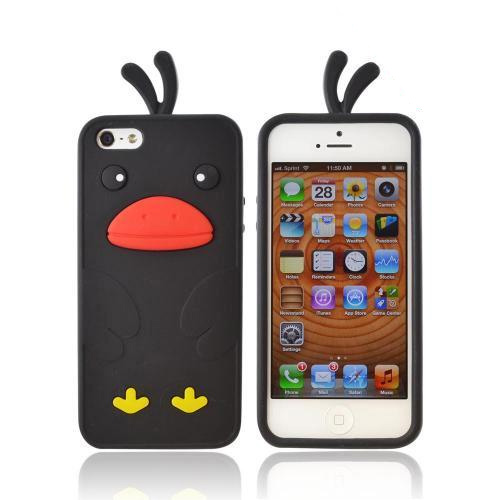 Apple iPhone 5/5S Silicone Case - Black Duck