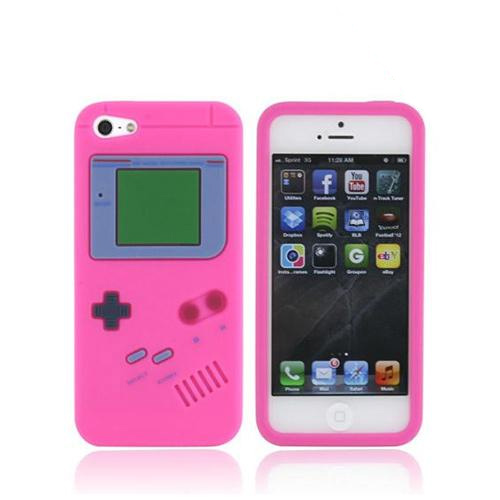 Apple iPhone 5/5S Silicone Case - Hot Pink Retro Gamer