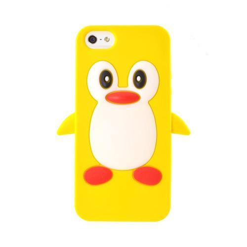 Apple iPhone 5/5S Silicone Case - Yellow Penguin
