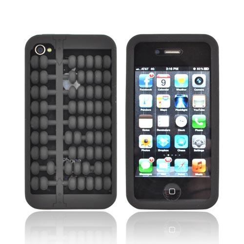 Black Abacus Silicone Skin Case for Apple iPhone 4/ 4S
