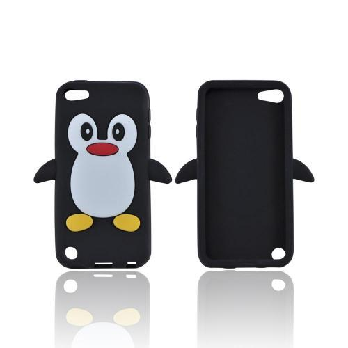 Apple iPod Touch 5 Silicone Case - Black Penguin