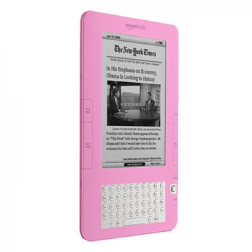 Amazon Kindle 2 Silicone Case, Rubber Skin - Baby Pink