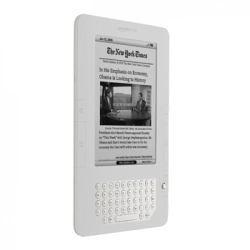 Amazon Kindle 2 Silicone Case, Rubber Skin - Frost White
