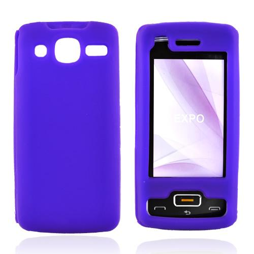 LG eXpo GW820 Silicone Case, Rubber Skin - Purple