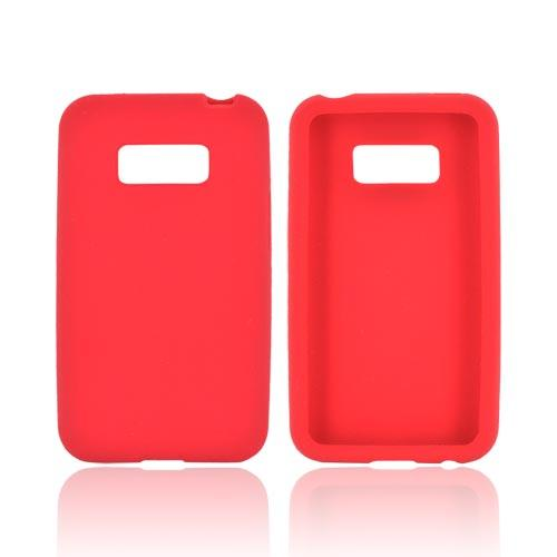 LG Optimus Elite Silicone Case - Red