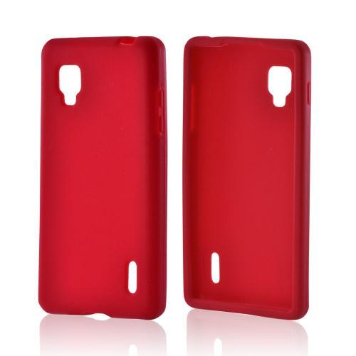 Silicone Case Red for LG Optimus G Sprint