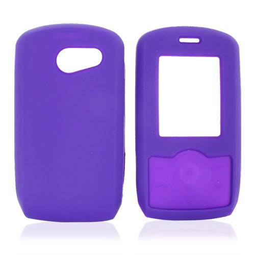 LG Lyric MT375 Silicone Case, Rubber Skin - Purple