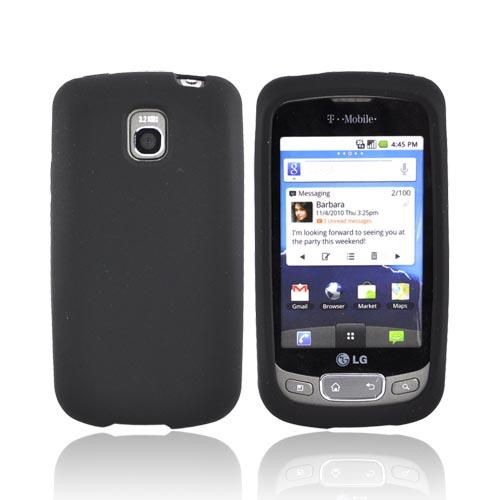 LT Optimus T, LG Thrive Silicone Case - Black