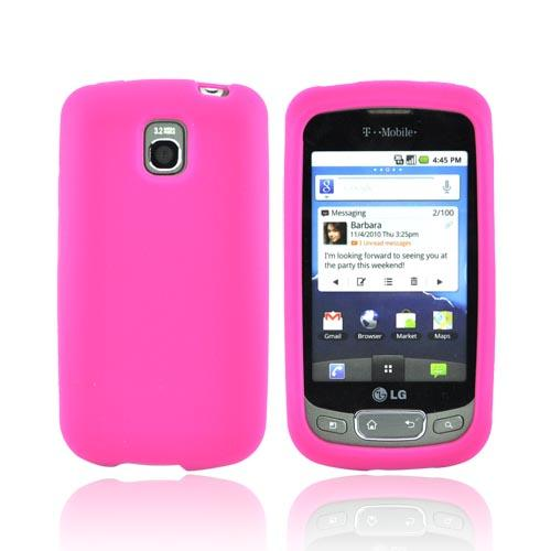 LT Optimus T, LG Thrive Silicone Case - Hot Pink