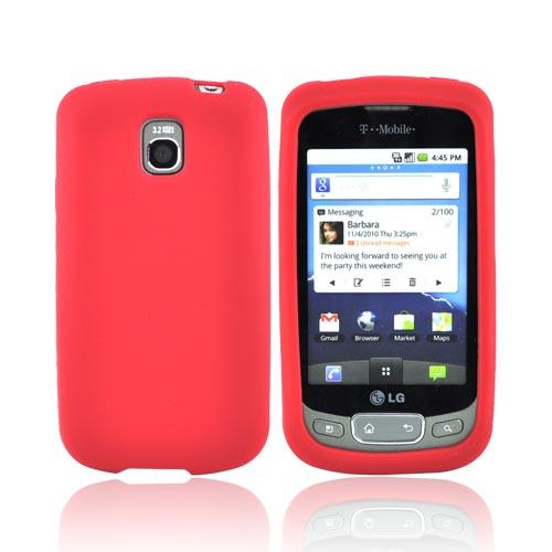 LT Optimus T, LG Thrive Silicone Case - Red