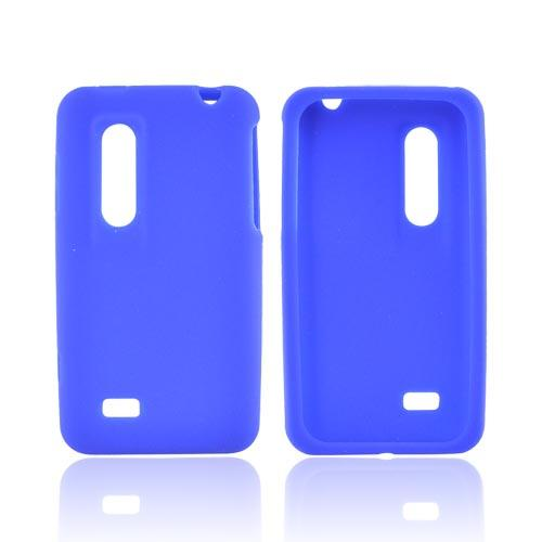LG Thrill 4G Silicone Case - Blue