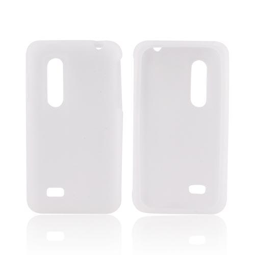 LG Thrill 4G Silicone Case - Frost White