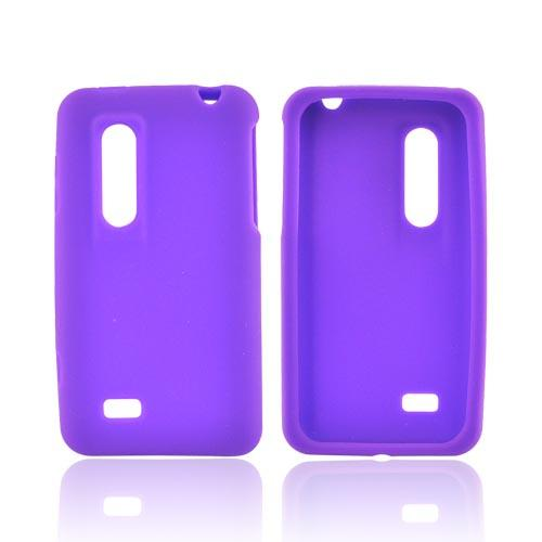 LG Thrill 4G Silicone Case - Purple