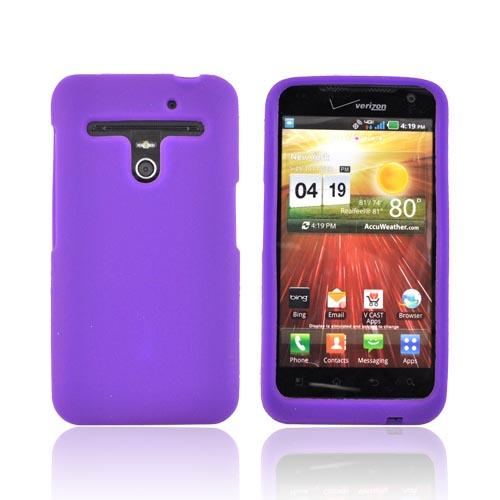 LG Revolution, LG Esteem Silicone Case - Purple