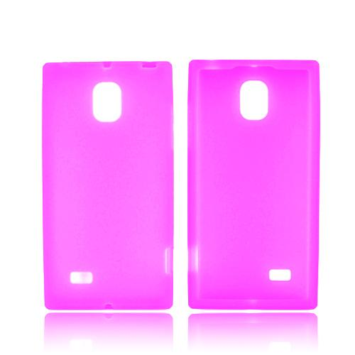 LG Optimus VS930 (Optimus LTE II) Silicone Case - Hot Pink
