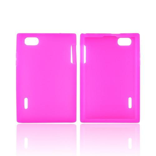 LG Optimus Vu VS950 Silicone Case - Hot Pink