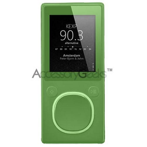 Microsoft Zune II silicone case, rubber skin w/ Neck Lanyard - Light Green