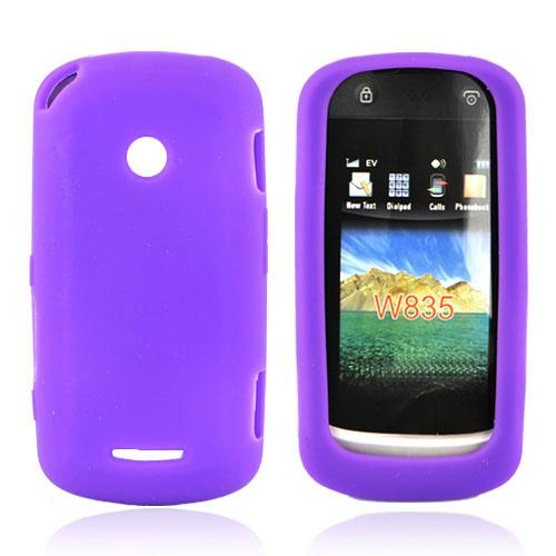 Motorola Crush W835 Silicone Case, Rubber Skin - Purple