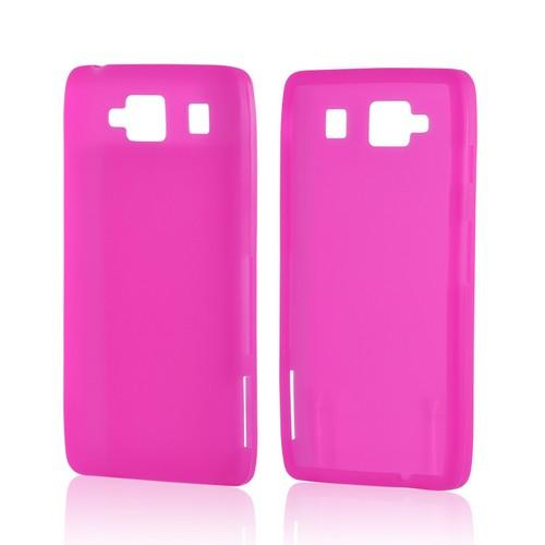 Hot Pink Silicone Case for Motorola Droid RAZR MAXX HD