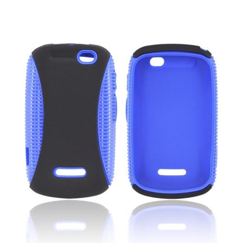 Motorola Clutch+ i475 Hard Back over Crystal Silicone Case - Blue/ Black