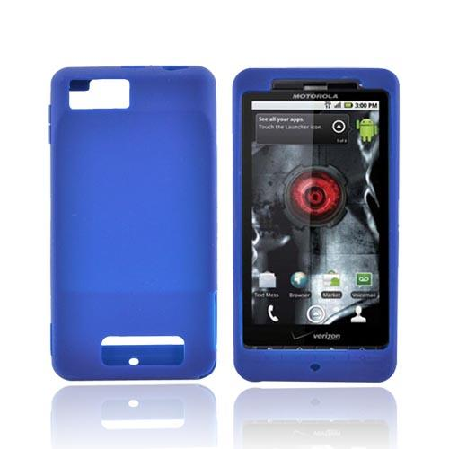 Motorola Droid X MB810 Silicone Case - Blue