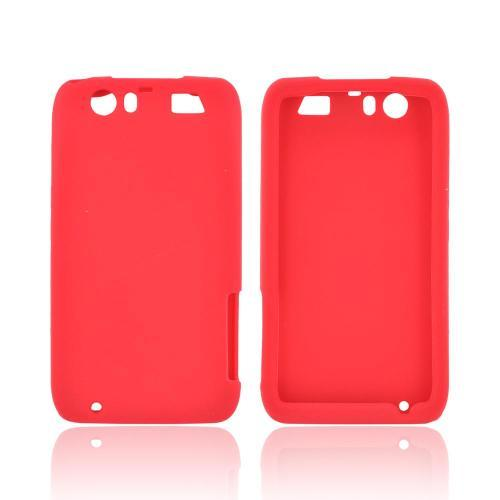 Motorola Atrix HD Silicone Case - Red