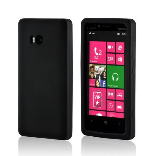 Black Silicone Case for Nokia Lumia 810