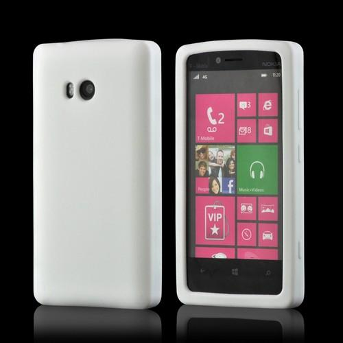 White Silicone Case for Nokia Lumia 810