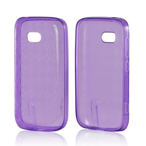 Purple Argyle Crystal Silicone Case for Nokia Lumia 822