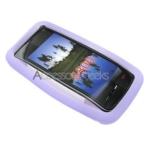 Premium Nokia XpressMusic 5800 Silicone Case, Rubber Skin - Light Purple