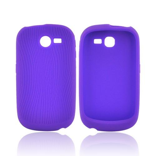Samsung A187 Silicone Case - Purple Design