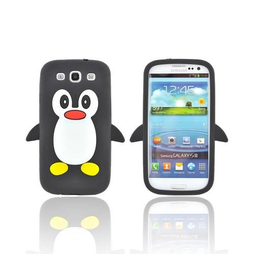Samsung Galaxy S3 Silicone Case - Black Penguin