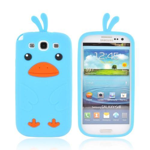 Samsung Galaxy S3 Silicone Case - Sky Blue Duck