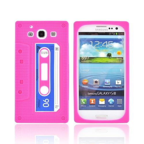 Samsung Galaxy S3 Silicone Case - Hot Pink Cassette Tape