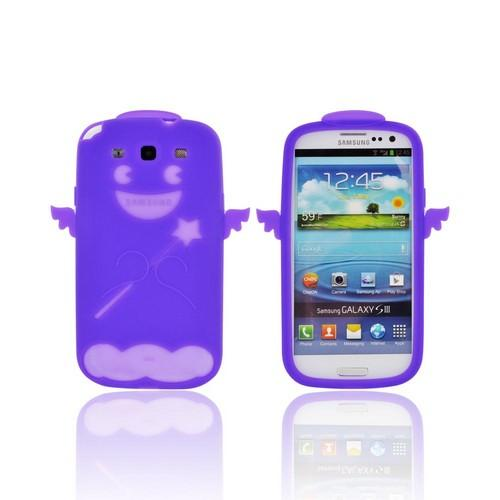 Samsung Galaxy S3 Silicone Case - Purple Angel w/ Wings