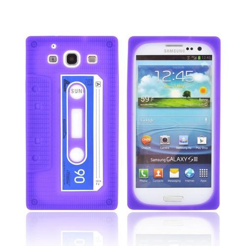 Samsung Galaxy S3 Silicone Case - Purple Cassette Tape