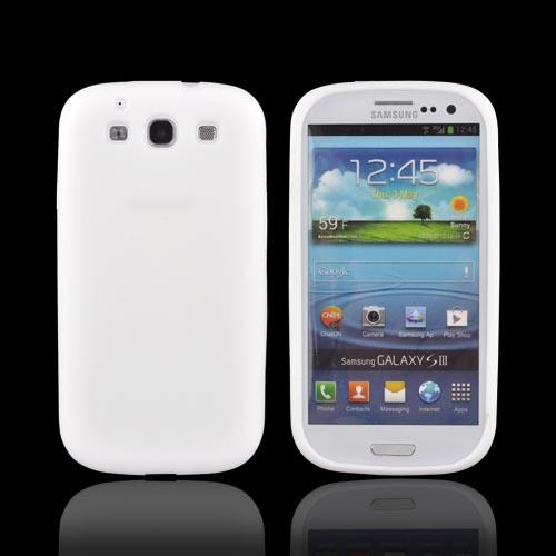 Samsung Galaxy S3 Silicone Case - Solid White