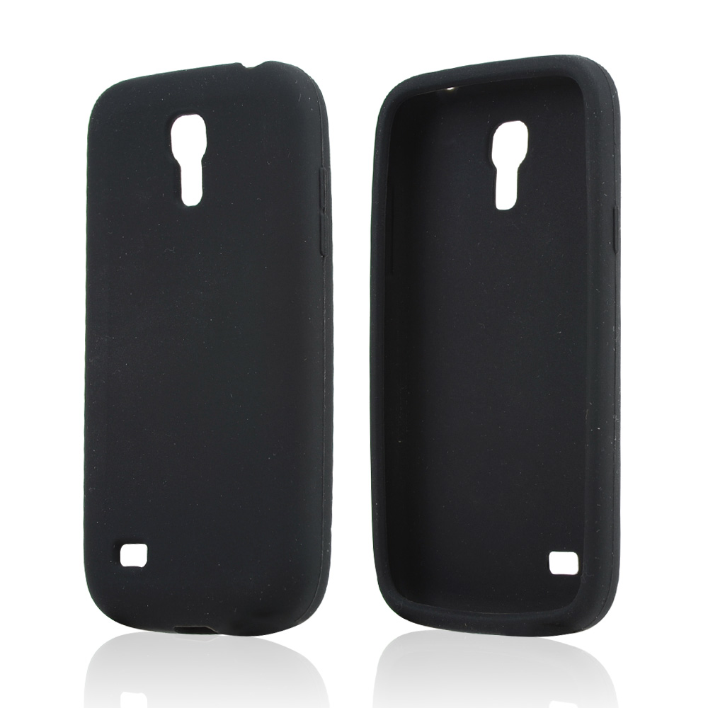 Black Silicone Skin Case for Samsung Galaxy S4 Mini