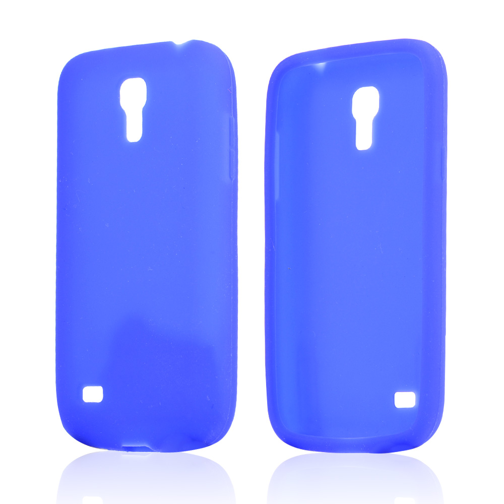 Blue Silicone Skin Case for Samsung Galaxy S4 Mini