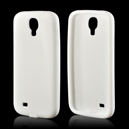 White Silicone Case for Samsung Galaxy S4