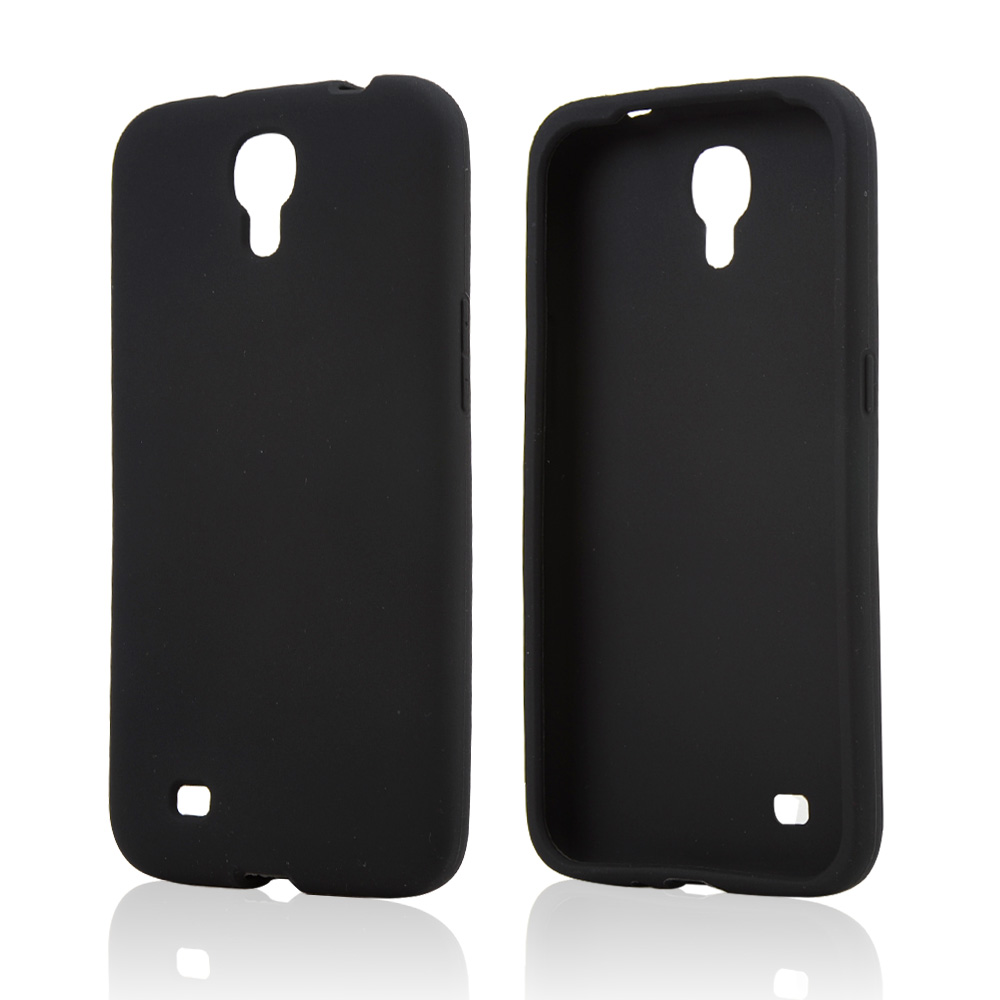 Black Silicone Skin Case for Samsung Galaxy Mega 6.3