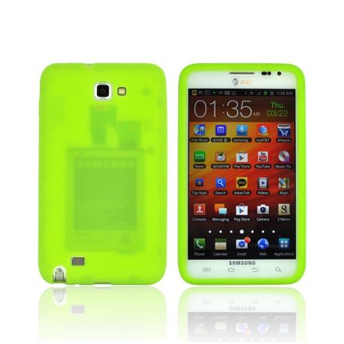 Samsung Galaxy Note Silicone Case - Neon Green