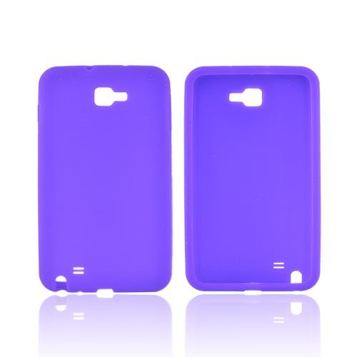 Samsung Galaxy Note Silicone Case - Purple