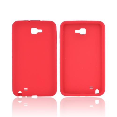 Samsung Galaxy Note Silicone Case - Red